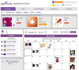 Hallmark social calendar